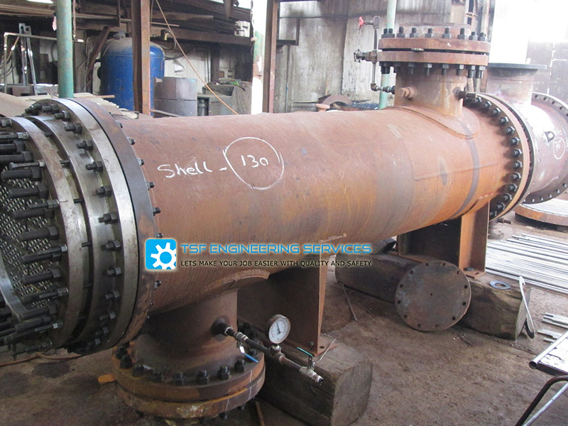 retubing & repairing of heat exchanger