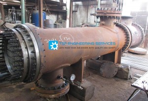 heat exchanger hydro testing with test ring