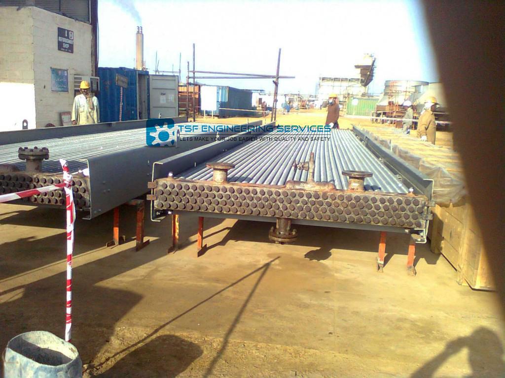 retubing & repairing of heat exchanger